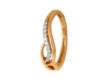 Curv Design Prong Set Diamond Ring