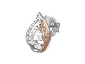 Prong Set Pear Design Top Earrings