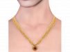 Four Layer Gold Beads Design Thushi Necklace