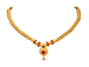 Gold Bead Filigree Design Thushi