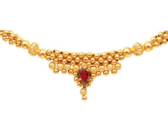 Gold Bead Thushi