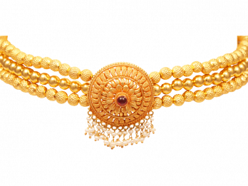 Gold Embossed Filigree Thushi