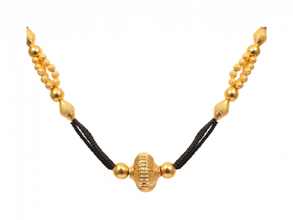 Gold Balls Embossed Two Layer Mangal Sutra