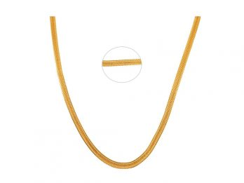 Flat Link Snake Gold Chain
