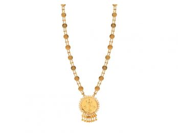 Gold Embossed Lakshmi Haar