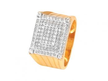 Pave Set CZ Mens Ring