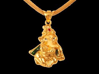 Gold Ganesha Pendan