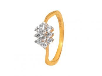 Floral Design CZ Ring