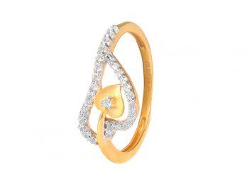 Heart Design CZ Ring