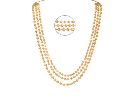 Three Layer Gold Beads Chain