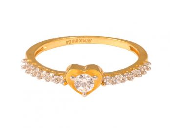 Heart Design CZ Ring
