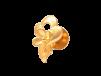Floral Design Embossed Gold Tops
