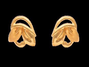 Gold Embossed Tops Earrings