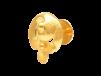 Floral Design Gold Embossed Earrings