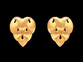 Embossed Heart Design Gold