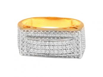 Micro Pave Set CZ Mens Ring