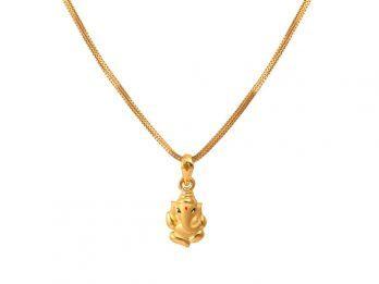 Gold Ganesha Pendant
