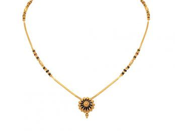 Center Floral Pendant With Box Chain Mangal Sutra
