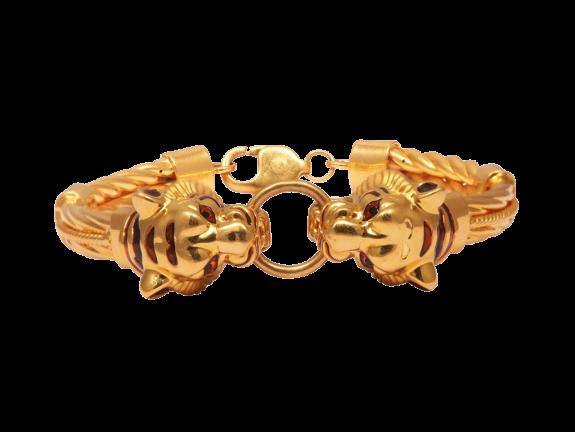 Gold Embossed Tiger Kada