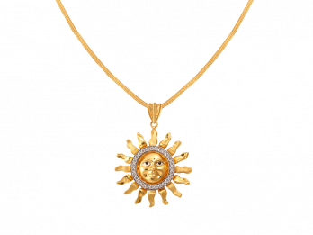 Sun Design Pendant With CZ