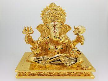 GOLDEN GANPATI  IDOL